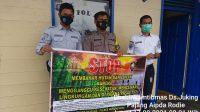 Foto : Polsek Murung For BRP. Ket Foto : Anggota Polsek Murung Laksanakan Sosialisasi Karhutla