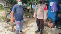 Foto : Polsek Murung For BRP Ket Foto : Anggota Polsek Murung saat Sosialisasi Prokes di Kelurahan Puruk Cahu